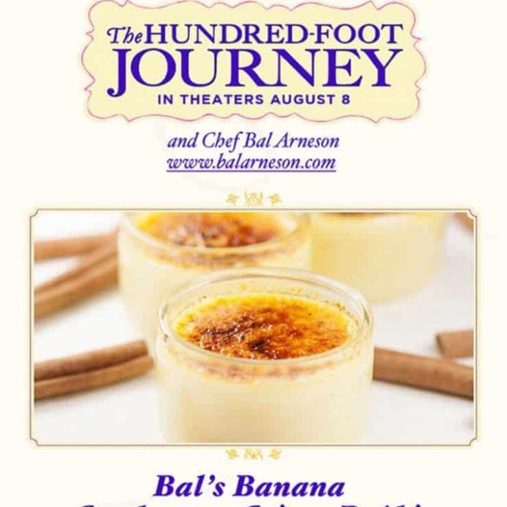 Bal's Banana Cardamom Creme Blulee Recipe