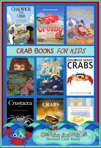 Crab Books for Kids  {Ocean Animals Unit Study}
