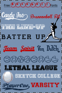 Blogging Basics:  Free Baseball Fonts