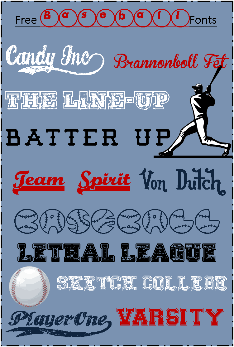Blogging Basics: Free Baseball Fonts – 3 Boys and a Dog