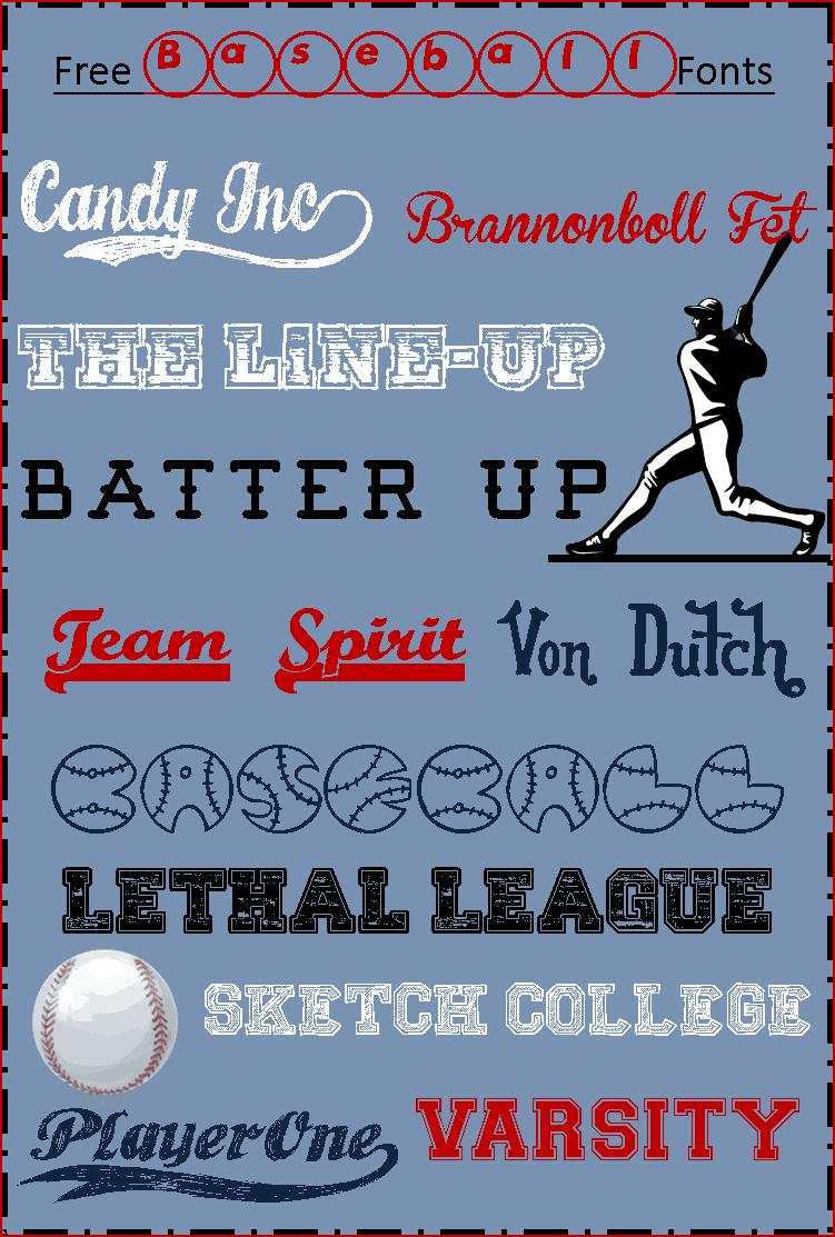 free baseball fonts