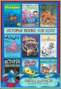 Octopus Books for Kids  {Ocean Animals Unit Study}