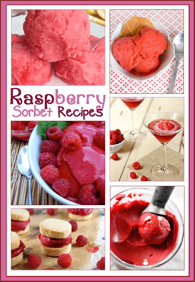 raspberry sorbet recipes