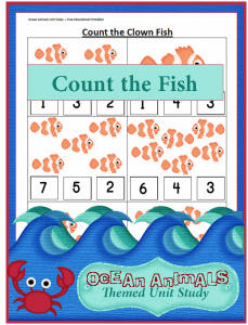 Count the Clown Fish {Ocean Animals Unit Study}