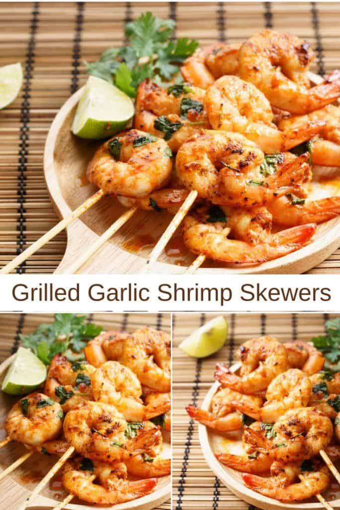 Garlic Shrimp Skewers Recipe