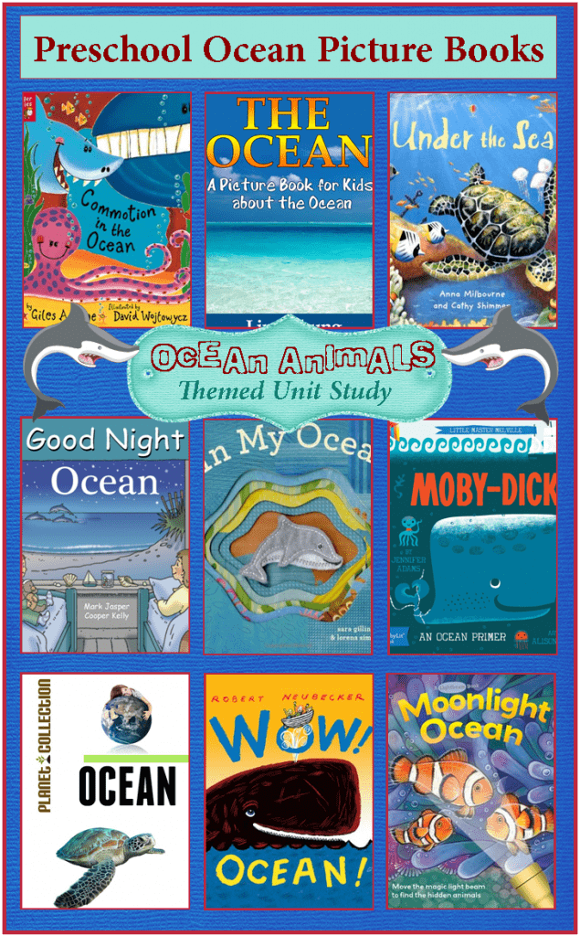 preschool books about the ocean picture books about the animals unit study 155