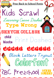 School Fonts: Free for Back to School {Blogging Basics}
