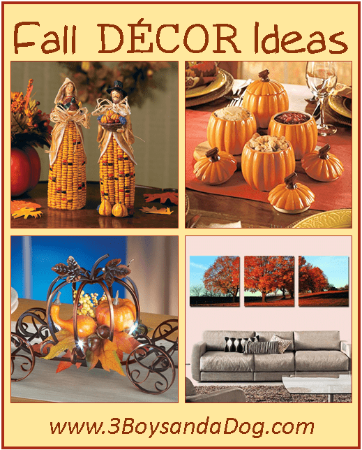 Fall decorating ideas 3 boys and a dog