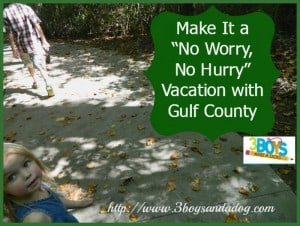 "Make It a ""No Worry, No Hurry"" Vacation with Gulf County"