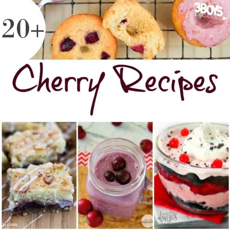 More Than 20 Recipes Using Cherries - 3 Boys and a Dog