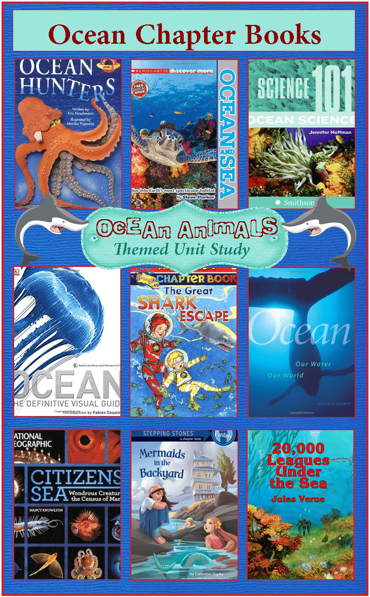 Titles of 9 Ocean Chapter Books for kids