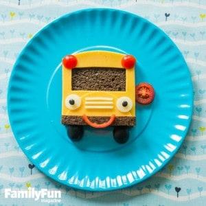 Fun School Bus Sandwich Recipe