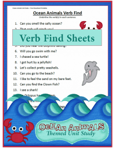 Ocean Animals Theme Unit