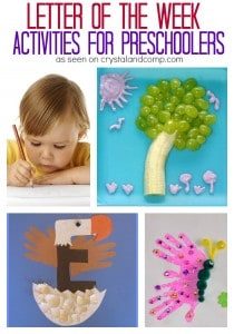 Letter of the Week Activities for Preschoolers