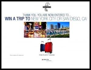Enter Atlantic Luggage Giveaway