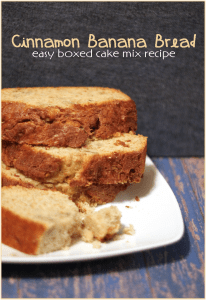 Cinnamon Banana Bread Cake Mix Recipe