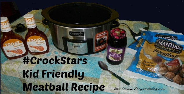 #CrockStars Kid Friendly Meatball Recipe