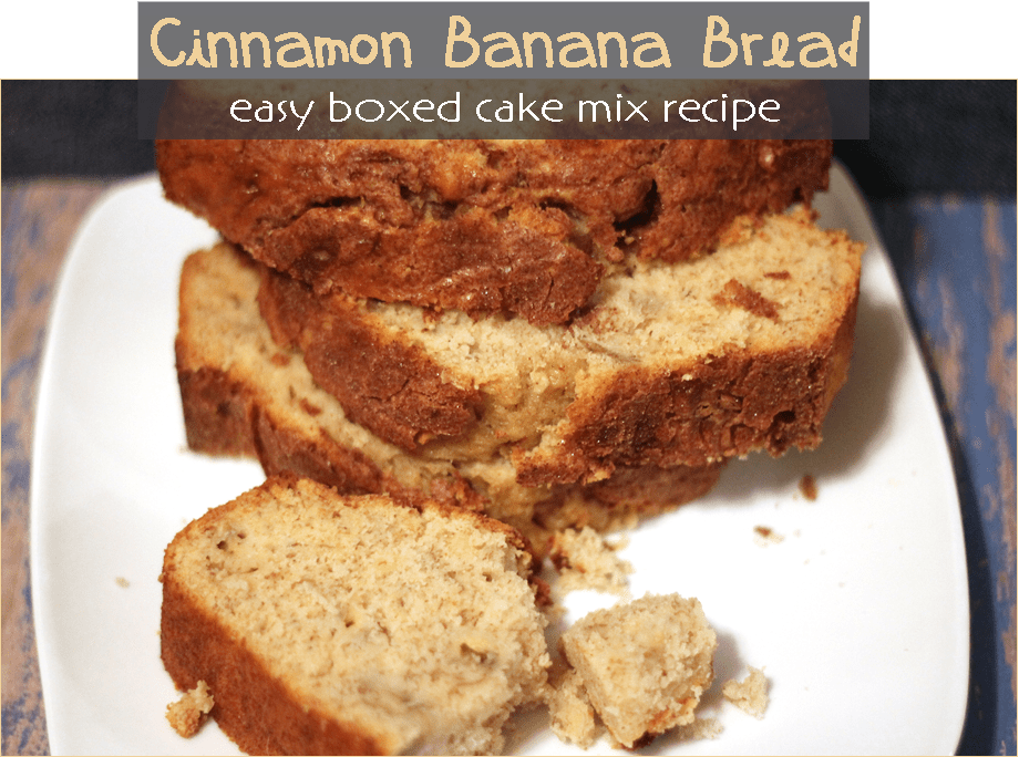 Spice Cake Mix Into Banana Bread