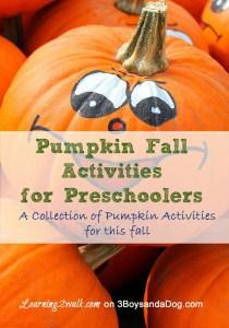 Pumpkin Fall Activities for Preschoolers