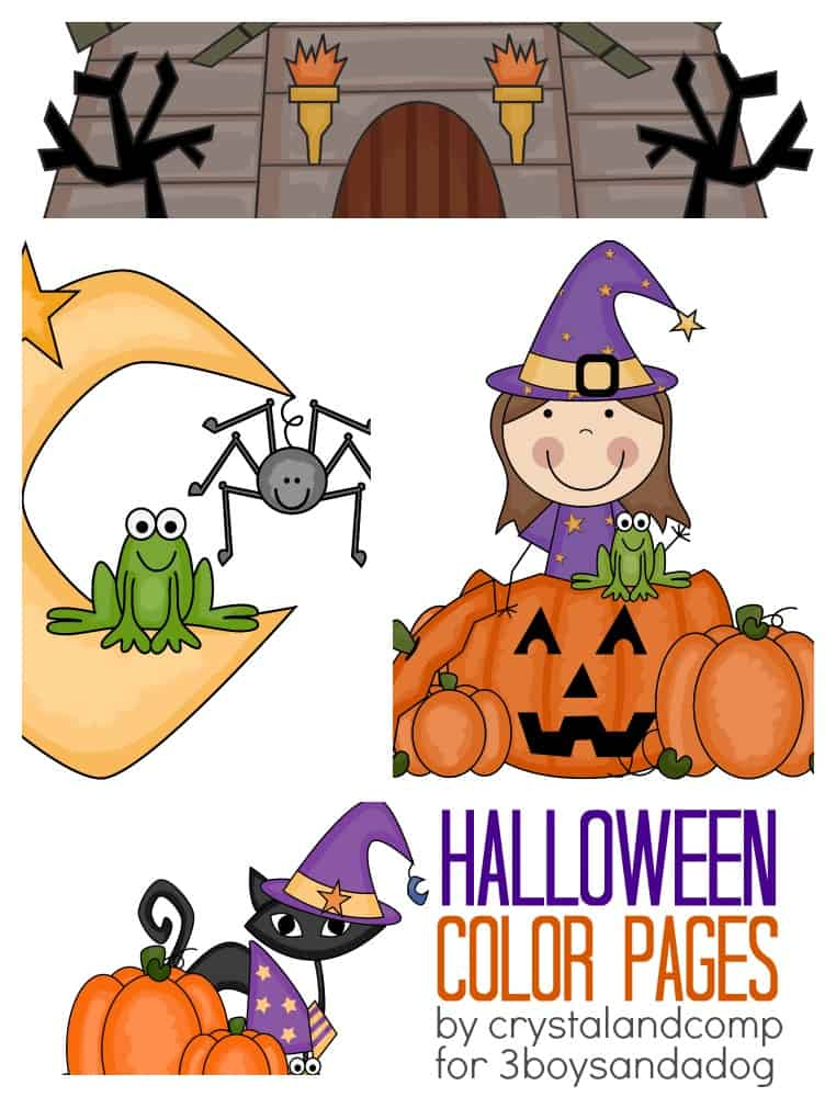 kid color pages halloween