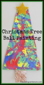 Christmas Tree Ball Painting {Visual Sensory Activity}