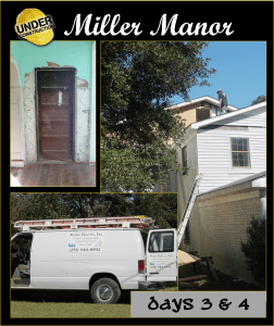 Miller Manor:  Renovation Days 3 and 4