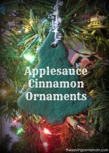 Applesauce Cinnamon Ornaments {Olfactory Sensory Activity}