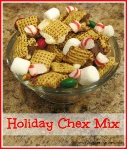 Holiday Chex Mix {Gustatory Sensory Activity}