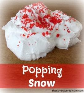 Popping Snow {Auditory Sensory Activity}