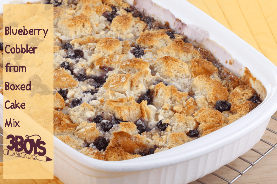 How To Make Blueberry Cobbler With Cake Mix