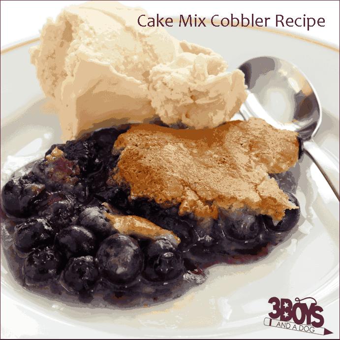 Blueberry Yellow Cake Mix Cobbler