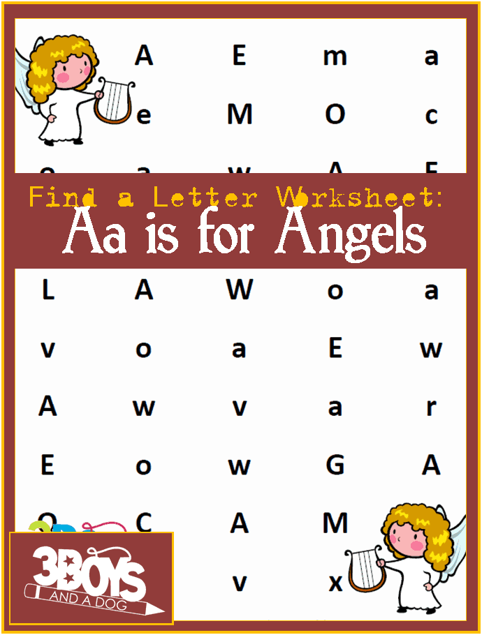 Find the Letter A is for Angels