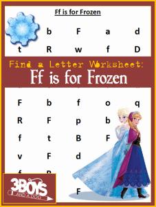 letter find worksheet