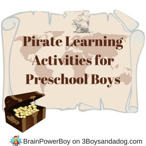 Pirate Learning Activities for Preschool Boys