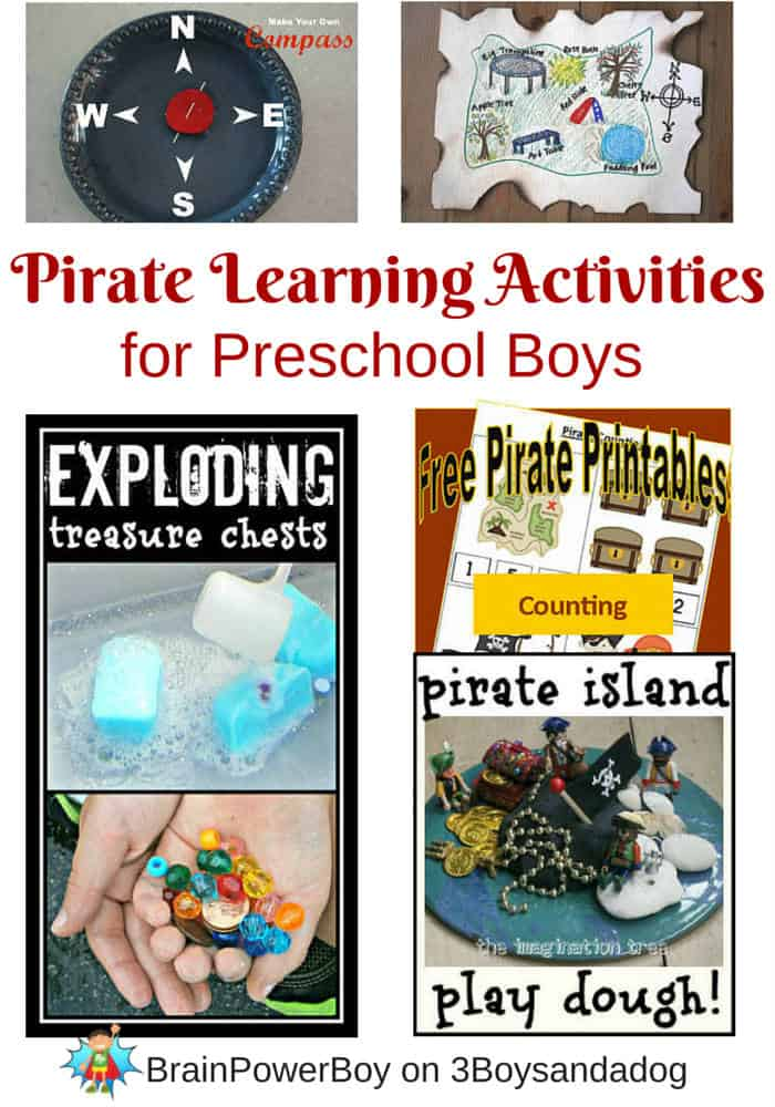 Homeschool Unit Study on Pirates for Preschool Boys