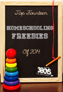 Top 14 Awesome Homeschooling Freebies!