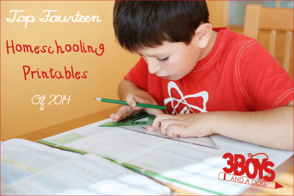 top 14 homeschooling printables of 2014