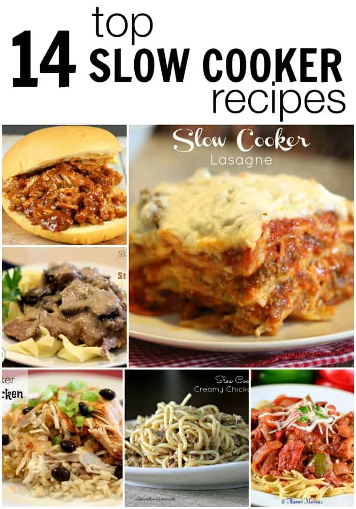 14 Top Slow Cooker Recipes