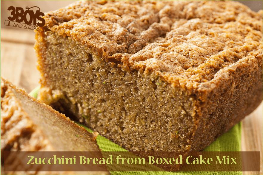 Easy Zucchini Bread Cake Mix