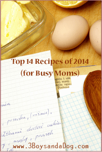 Top 14 Recipes for Busy Moms!