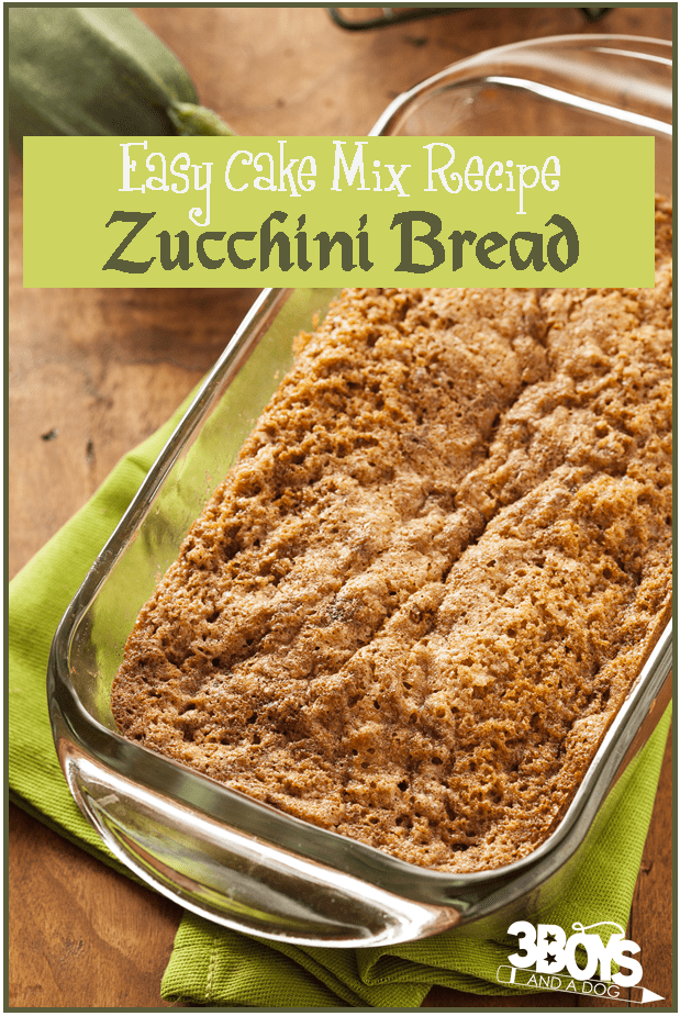 Easy cake mix recipes zucchini bread 3 boys and a dog zucchini bread recipe from boxed cake mix forumfinder Images