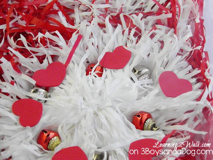 valentine preschool activities- sensory bin close up