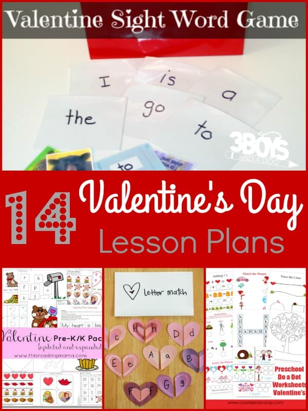 14 Valentines Day Lesson Plans