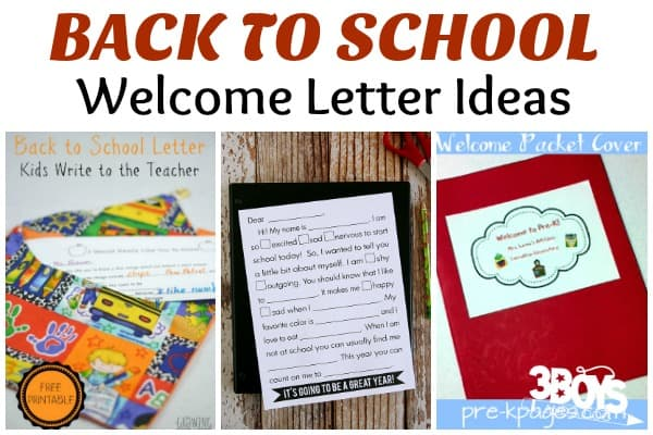 Back to School Welcome Letter Ideas