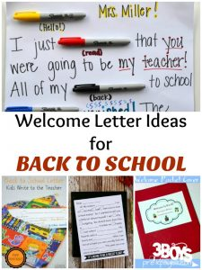 Back to School Welcome Letters