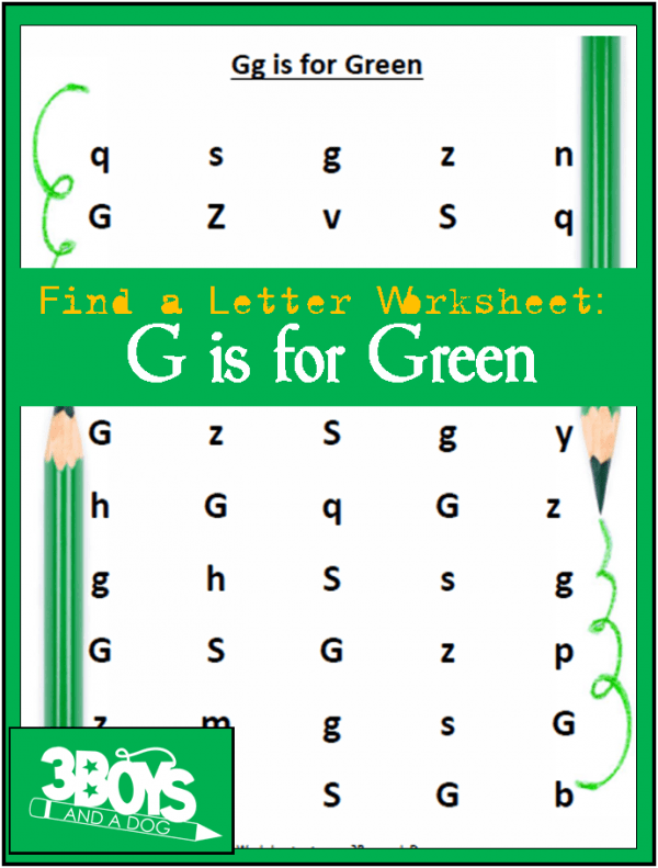 Find the Letter G is for Green