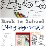 Fun Back to School Coloring Sheets