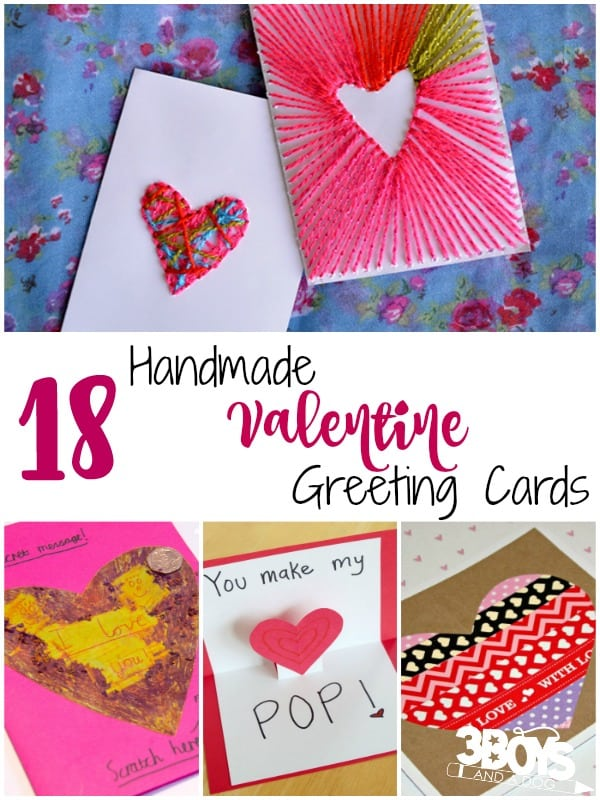 Handmade Valentine Greeting Cards 3 Boys and a Dog 3 Boys and – Handmade Greeting Cards for Valentine Day