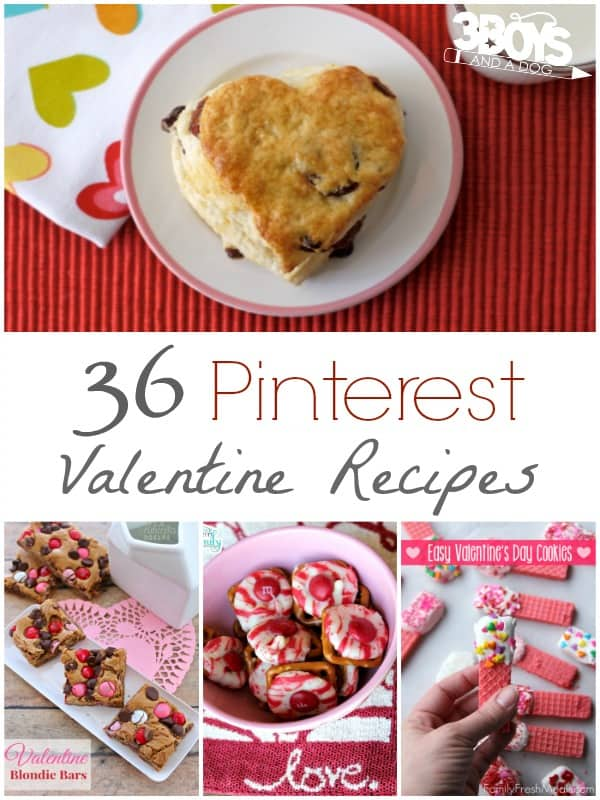 Pinterest Valentine Recipes @ 3 Boys and a Dog