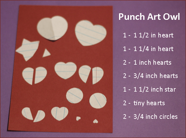Punch Art Owl Punches Needed